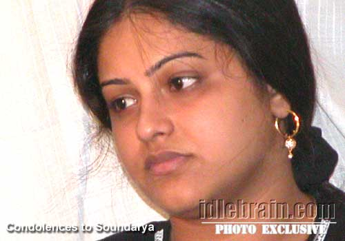 Soundarya Death Photos http://www.idlebrain.com/news/2000march20/death-soundarya/soundarya6.html
