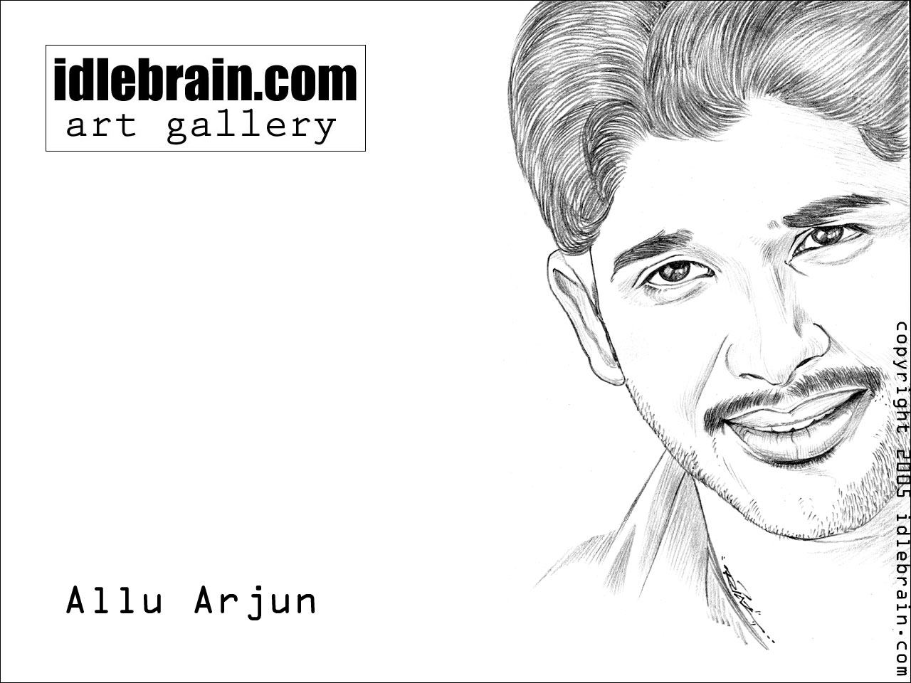 Allu Arjun - Telugu film wallpapers - portrait
