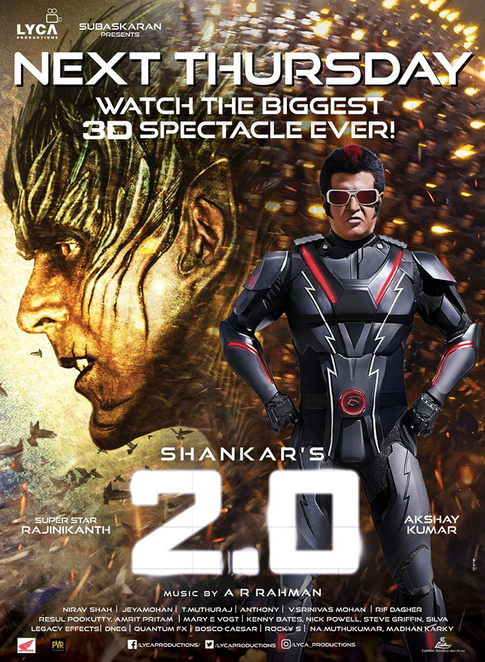 2 0 tamil usa list biggest spectacle 2 0 usa release by g2g1 and lyca