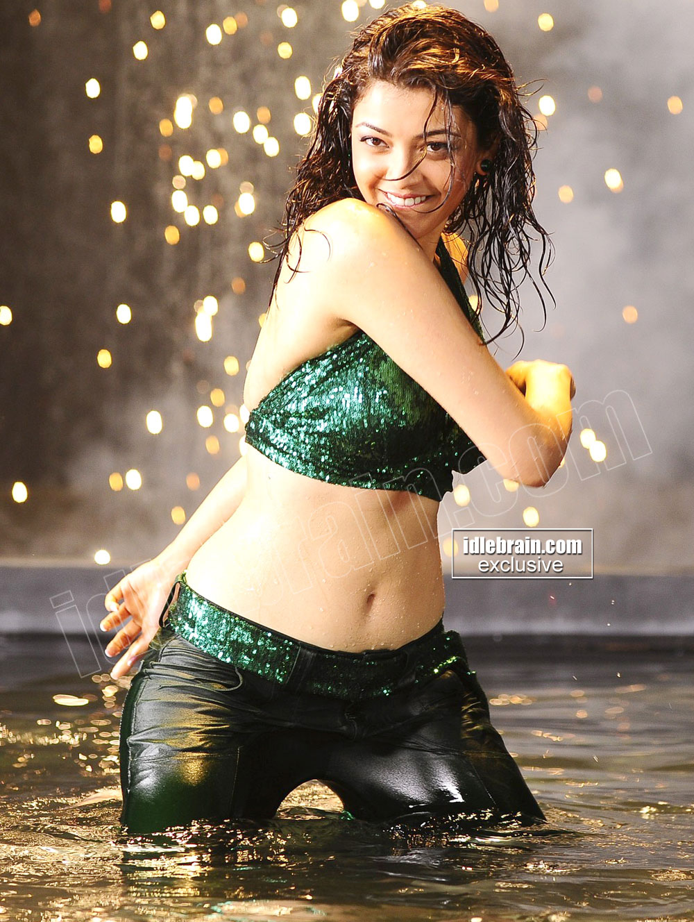 thighs big boobs hot ass navel Kajal