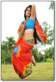 pics for gt madhurima banerjee in red saree