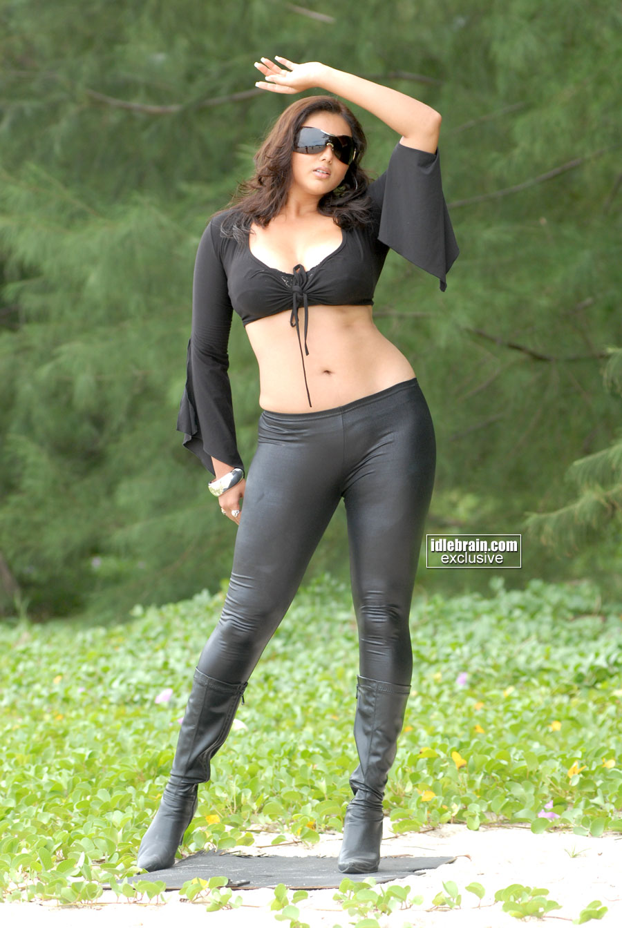 Actress Namitha in Sexy Tight Leather Pants