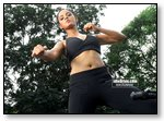 Neetu Chandra practicing Martial Arts...