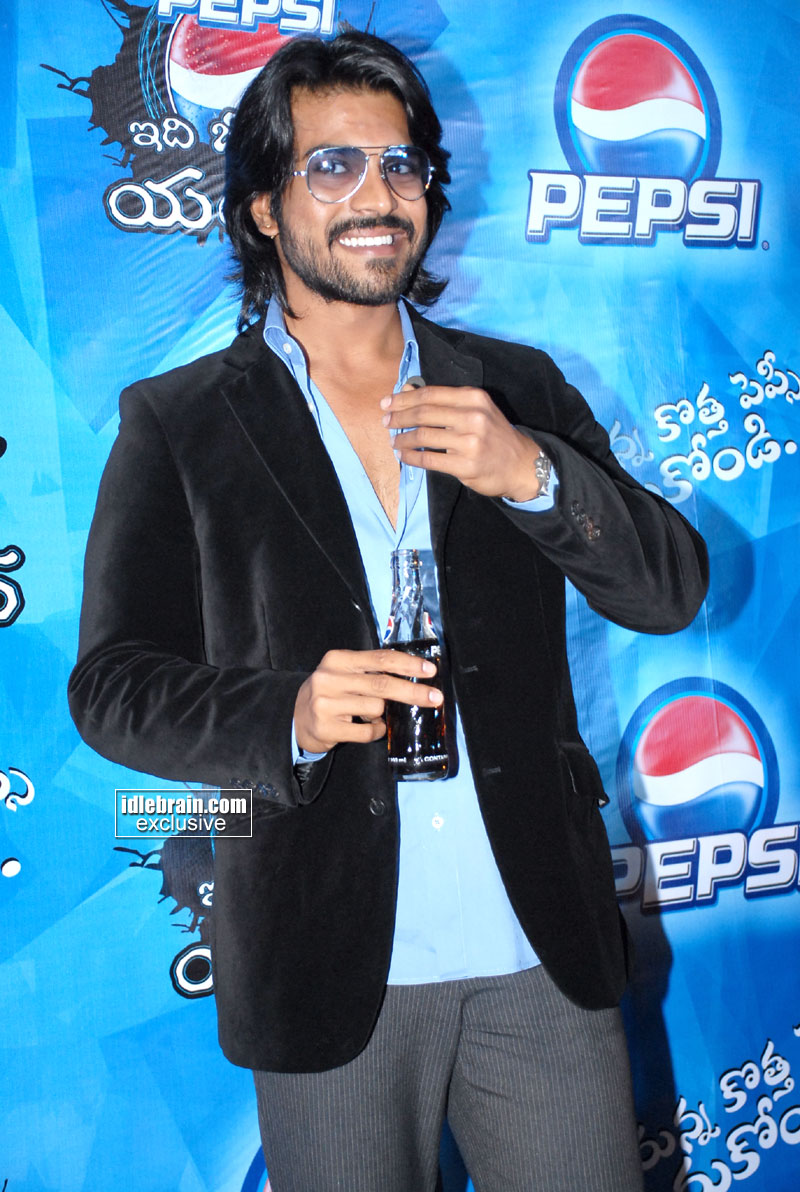 Ram Charan Teja As Pepsi Brand Ambassador Photo Gallery