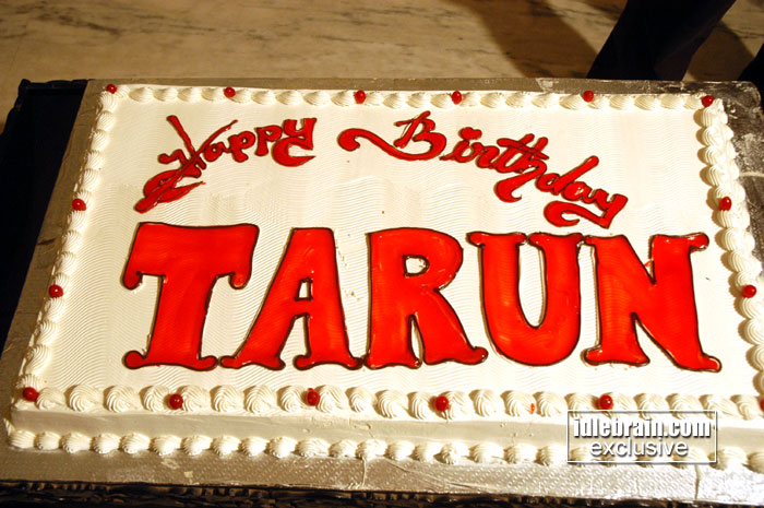 Cake Images With Name Tarun : Tarun birthday 2008 - Telugu cinema function